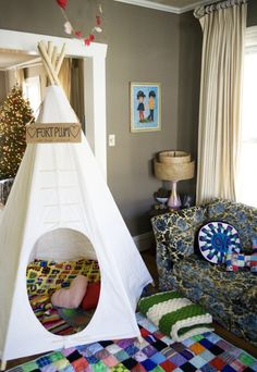 20 DIY teepees -- I've been looking for this. We need a bigger teepee.