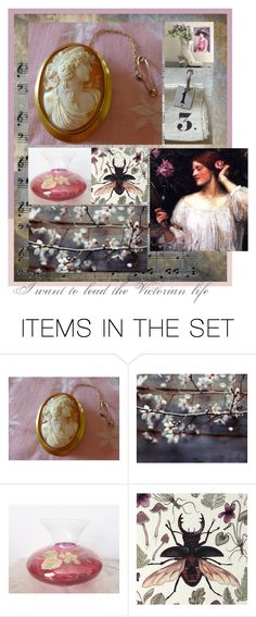 """Victorian life."" by artsdesireable ❤ liked on Polyvore featuring art, vintage, sumertadesigns, LupenGrainne, etsyevolution and jarmfarm"