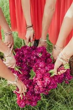 Bridesmaids Bouquets | On Style Me Pretty: http://www.StyleMePretty.com/southwest-weddings/2014/02/24/rustic-hill-country-wedding/ Shaun Menary Photography