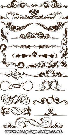 Swirls for curfew Lettering Styles, Hand Lettering, Arabesque, Molduras Vintage, Borders And Frames, Stencil Patterns, Calligraphy Letters, Album Design, Scroll Design