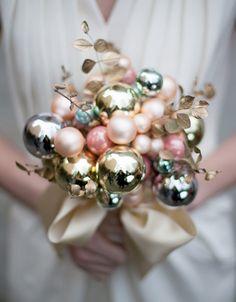 DIY Holiday Ornament WeddingBouquet - Brenda's Wedding Blog - unique wedding blogs for stylish weddings and inspiring visuals
