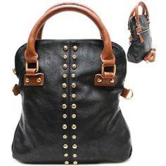 Rhinestone / Metal Stud Purse and Bag / Handbag / Black/ Rchta2500blk,$33.50 [Current Not Available] #GraffitiLensHandbag [No Longer Available]