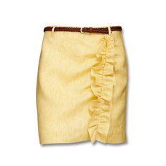Short Skirt In Linen...by mexxx.eu