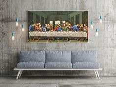 PREMIUM Counted Cross Stitch KIT The Last Supper by Leonardo da Vinci by TheArtofCrossStitch on Etsy