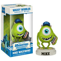 "Amazon.com: Mike Wazowski ~4"" Bobble Head Figure: Disney Pixar Monsters University Wacky Wobbler Series: Toys & Games $19.99"