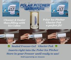 The Best way to Keep your Pitcher of Beer Cold is with the Polar ICE Pitcher with Aluminum Polar ICE Chamber ..Check it out..