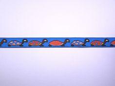 Lint blauw, schildpad 15 mm || https://kimya.nl/webshop/lint-blauw-schildpad-15-mm-x-1-meter-p-9672.html