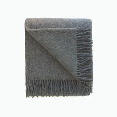Wafer Wool Blanket in Slate - James & May – James & May