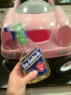 plastic car makeover ... spray paint an old kid's car to make it look new again!