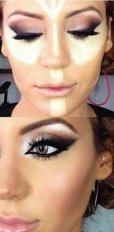 Facial contouring make-up tip...