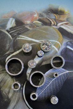Diamond spacers and plug earrings