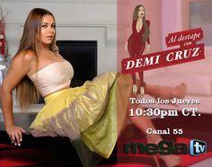 Acompaña a Demi Cruz todos los jueves a las 10:30PM por la Mega TV y disfruta de una hora de full entretenimiento... #AlDestapeConDemiCruz