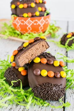 These chocolate covered Reese's Cream Eggs are a fun treat to make for Easter baskets. Two kinds of Reese's make them taste amazing!
