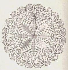 Não tão comum...: Sousplat de crochê com gráfico - modelo 1