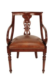 Regency Leather Arm Chair