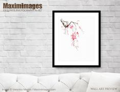 Tender sakura branch with delicate pink blossoms. Oriental sumi-e Zen painting on white... Image MXI32827. Buy it as Art print, Canvas print, Wall tapestry, Greetings cards at MaximImages.com #sakura #sakuras #cherry #blossom #plum #blossoms #pink #flowers #floral #design #nature #buy #illustration #illustrations #prints #artprint #wallart #fineartprints Wall Art Prints, Fine Art Prints, Canvas Prints, Pink Blossom, Cherry Blossom, Zen Home Decor, Sumi E Painting, Lighted Branches, Light Pink Flowers