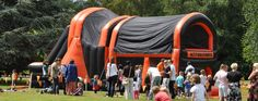 Inflatable Obstacle Course - Altitude Events #scouts #guides #events #outdooractivityhire Party Activities, Outdoor Activities, Party Games, Inflatable Obstacle Course, Crazy Golf, Party Hire, Girl Guides, Pli, Activity Days