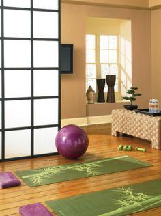 Best Home Gym Paint Colors Yoga Studios Ideas Home Yoga Room, Yoga Studio Home, Yoga Studio Design, Zen Room, Yoga Rooms, Yoga Spaces, Zen Place, Meditation Rooms, Relaxation Room