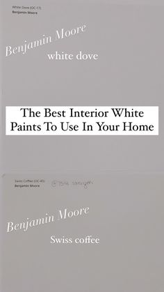 Top white paint choices for your home with real life examples.