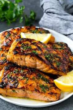 Salmon Dishes, Fish Dishes, Seafood Dishes, Seafood Recipes, Dinner Recipes, Cooking Recipes, Steak Recipes, Lunch Recipes, Marinated Salmon