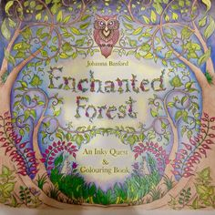 Johanna Basford Enchanted Forest, Portada, Bosque encantado. Johanna Basford.