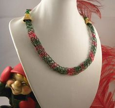 Christmas Hammered Wire Choker by talpal2 on Etsy