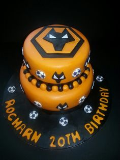 Up The Wolves Wolverhampton Wanderers Birthday Cake