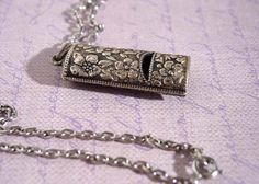 1975 Avon Silver Note Pendant Necklace by FrogTears on Etsy