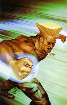 Guile Street Fighter # 4 UDON Comic Power Foil Cover Art by Jo Chen