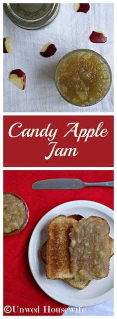 Candy Apple Jam | Unwed Housewife | {Recipe} Apple jam so good you'll wonder if it's candy. The perfect addition to toast, scones, and rolls.