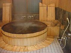 japonese traditional old bathtub