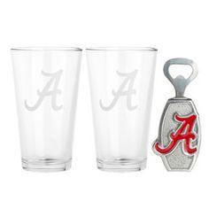 University of Alabama Pub Glass Opener Set-- $40.00