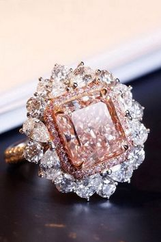 💖 36 Rare, Fancy Pink Diamond High Jewelry Pieces — - In with this amazing fancy brown from Saboo Fine Jewels that feat - Pink Diamond Jewelry, Pink Jewelry, Diamond Rings, Diamond Pendant, Beautiful Rings, Fashion Jewelry, Fashion Rings, Fancy, Engagement Rings
