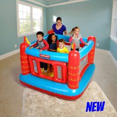 b285f93a6dc Inflatable Bouncing Castle Kids Toddler Grandson Bouncer Blown Up Jumper  Balls  bouncer  toy