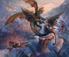 Fantasy Art Andrey Pervukhin Tragedy in the Sky