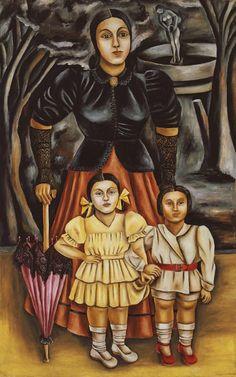 Museo Blaisten - Mi tía, un amiguito y yo de María Izquierdo