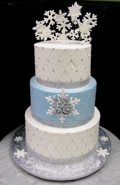 Winter Wonderland Snowflake Sweet 16