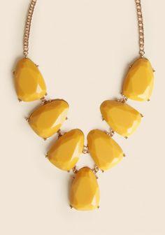 Crescent Cove Necklace In Mustard   Modern Vintage Necklaces   Modern Vintage Jewelry   Modern Vintage Accessories