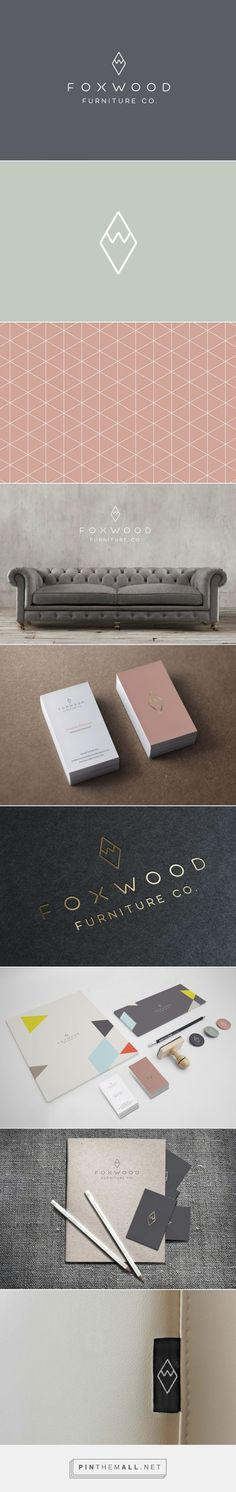 Foxwood Furniture Co | Graphic design agency | Tonik - created via https://pinthemall.net      Logo on one side of business card (foil on solid colour) and details on the other side looks great. Gold on grey again too.