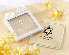 Personalized Glass Coaster-Set of 12 (Religious Designs)
