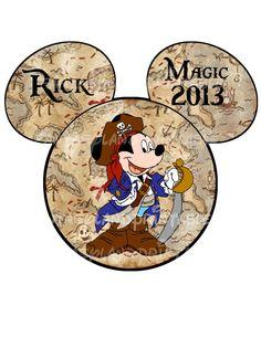 Pirate Mickey Mouse DIY Printable Iron Transfer family  Disney trip Family shirt Vacation Disney Cruise Fantasy Dream on Etsy, $5.00