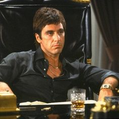 Al Pacino in Scarface Scarface Quotes, Godfather Quotes, The Godfather, Goodfellas Quotes, Scarface Movie, Al Pacino, Gangster Quotes, Badass Quotes, Gangster Movies