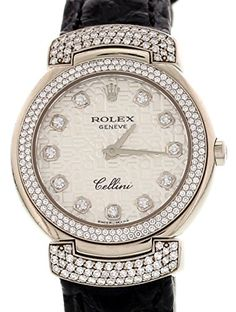Rolex-Cellini-swiss-quartz-silver-womens-Watch-6673-Certified-Pre-owned