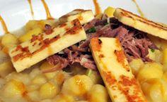 Nhoque de batata baroa com carne seca e melaço - Receitas - Receitas GNT