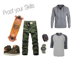 """""""Skaterstyle"""" by juli-ane on Polyvore featuring DC Shoes, Seiko, LE3NO, men's fashion und menswear"""