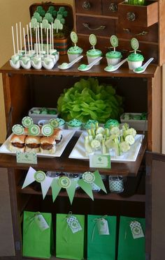 Party food at a St. Patrick's Day Party #stpatricksday #partyfood