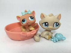 Littlest Pet Shop LPS Lot of 2 Mom Baby Kitty Cats w Accessories | eBay