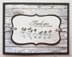 Wandering Scissors Using Stampin Up Wetlands and Hardwood stamp sets.
