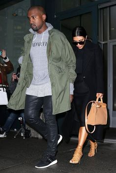 Kanye West Spotted At LAX Wearing Yeezus Hoodie, Maison Margiela Pants & Yeezy Boots + Airport Style History | UpscaleHype