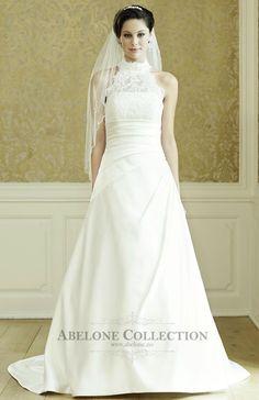 brudekjoler 2015 - Google-søk Bridal Gowns, Wedding Dresses, One Shoulder Wedding Dress, Neckline, Elegant, Lace, Ivory Wedding, Train, Google